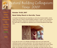 Natural Building Colloquium Texas 2007