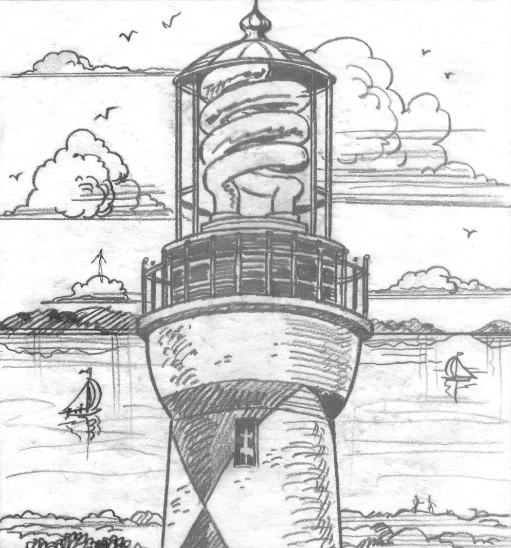 CFL Lighthouse illustration by John Dolley